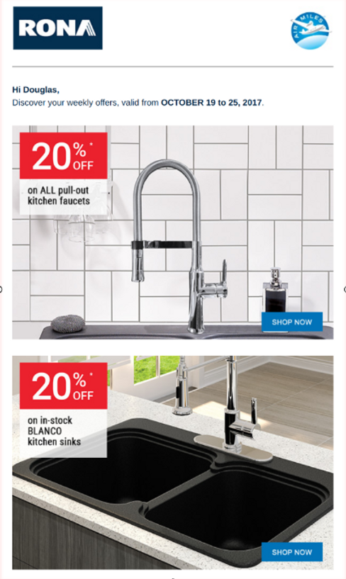 RONA Sale on Kitchen Faucets & Sinks | Interior Design Toronto ...