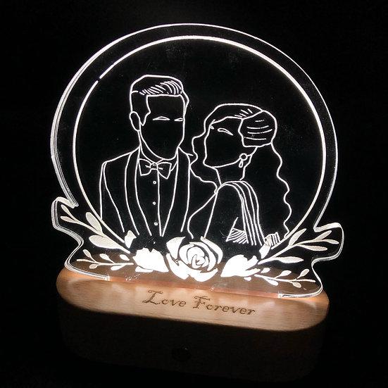 手繪雕刻夜燈