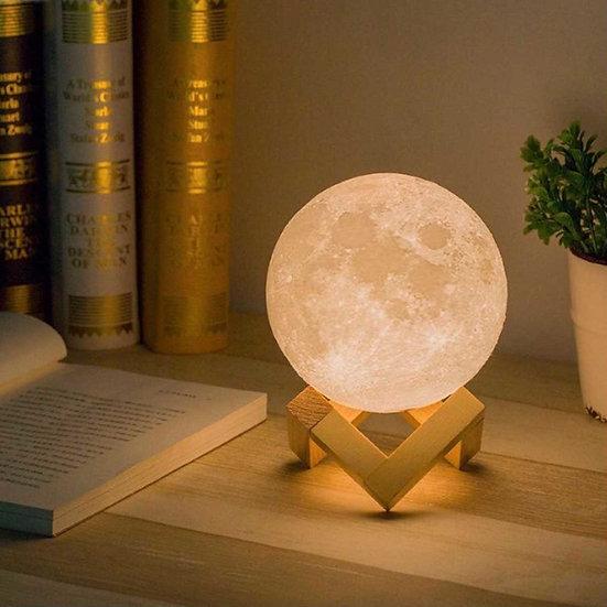 純白3D打印月球燈