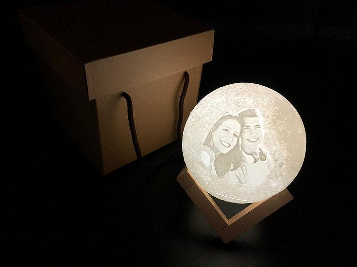 客製化3D打印月球燈
