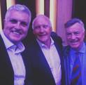Darren Sanders with Rodney Hogg and Greg Matthews