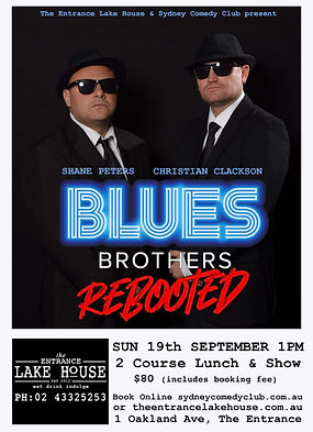 Blues Brothers Rebooted Sydney Comedy Cl