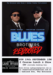 Blues Brothers Rebooted Sydney Comedy Club Entrance Lake House