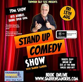 Darren Sanders Comedy Toowoon Bay SLSC
