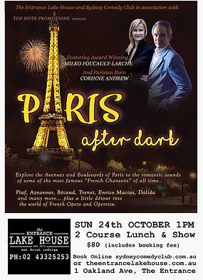 Paris after Dark The Entrance Lake House