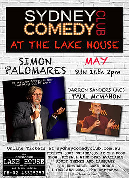 Sydney Comedy Club at The Lake House