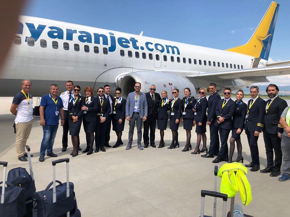 Debutto Tayaran Jet: primo volo Malpensa - Catania.