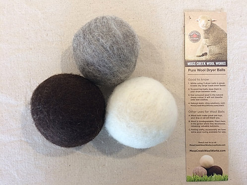 100% Wool Dryer Balls (5 per set)