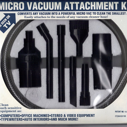 Micro Vacuum Attachment Set