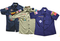 Boy Scouts shirts with patches