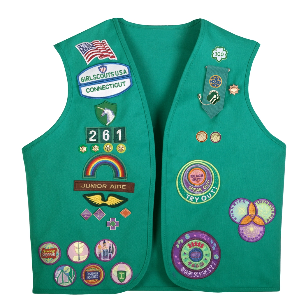 Girl Scout vest with patches