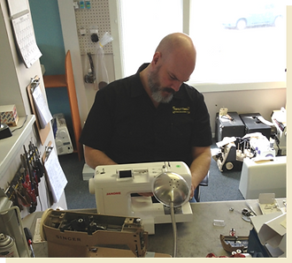 Jon Lasslett, Sewing Machine Repair Technician