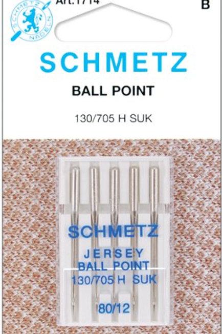 Schmetz Ball Point Jersey Machine Needles 12/80