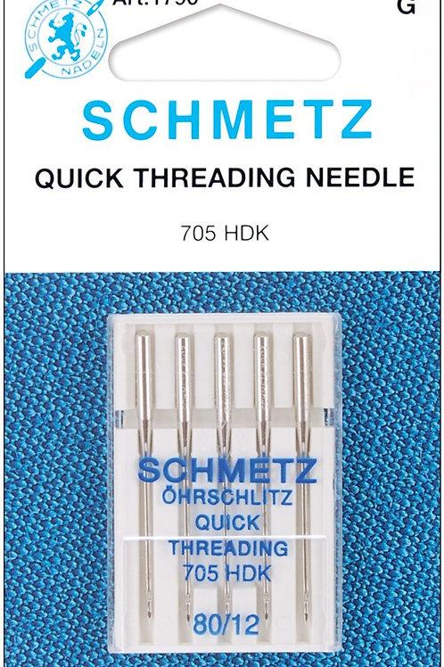 Schmetz Quick Self-Threading Machine Needles 12/80