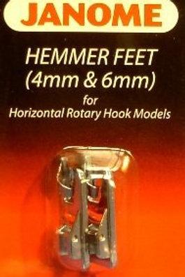 Janome Hemmer Feet (4mm & 6mm)