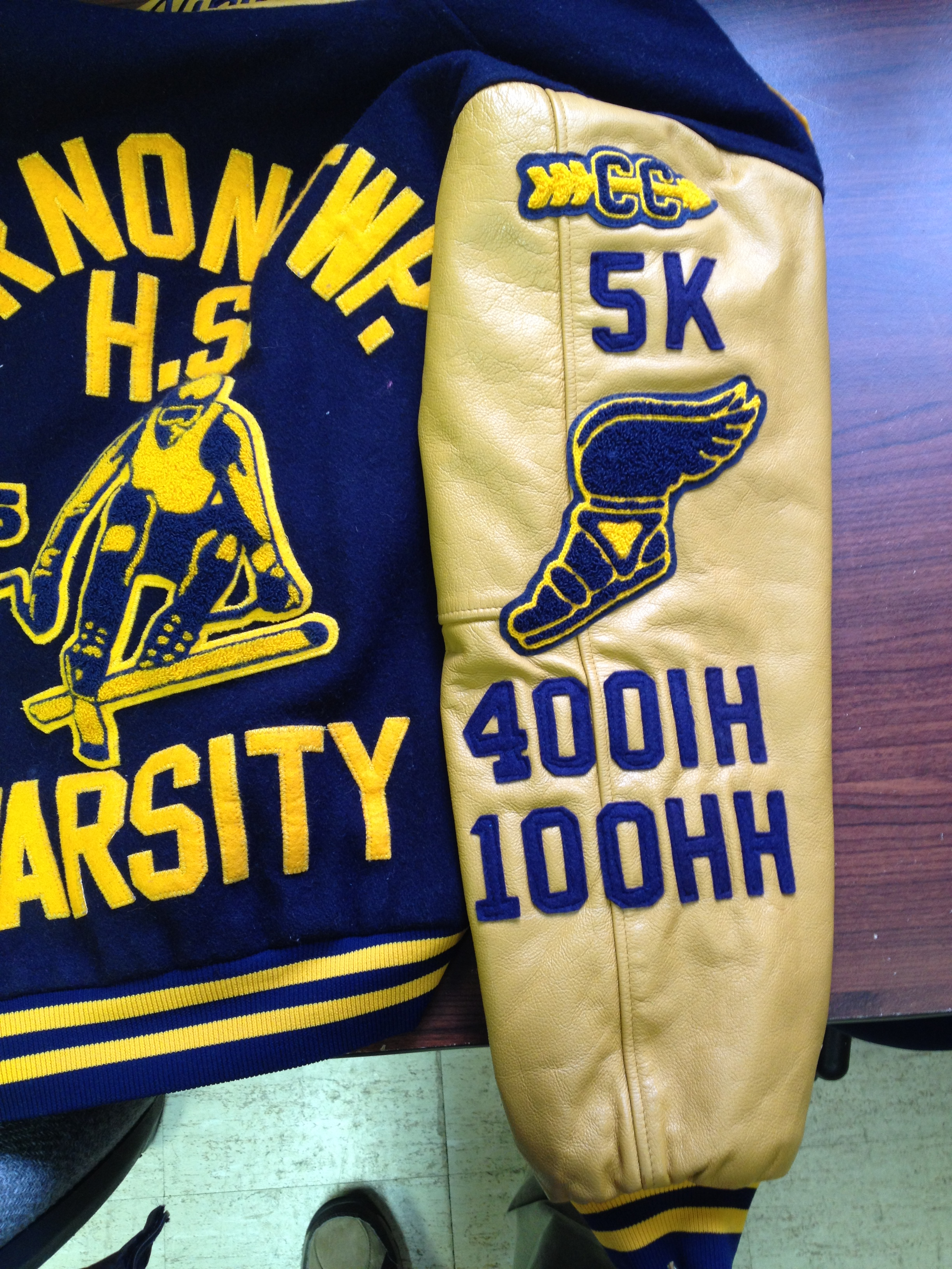 Varsity Jacket Sleeve with patches
