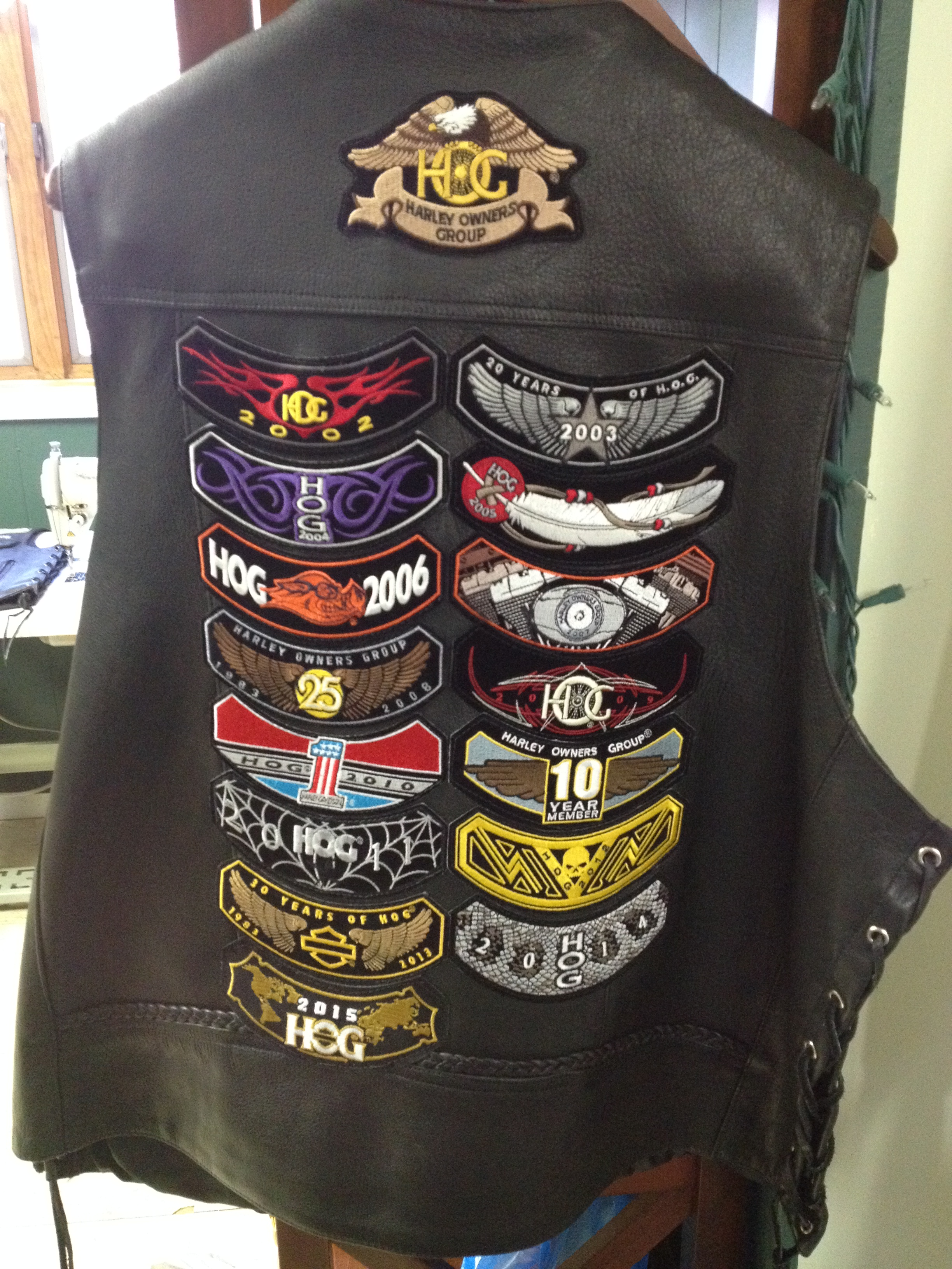 Rocker Vest with leather patches