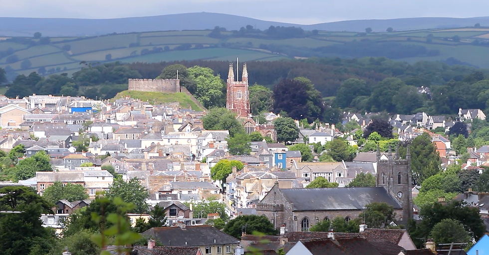 St Mary's Church and St John's Church and Totnes Castle