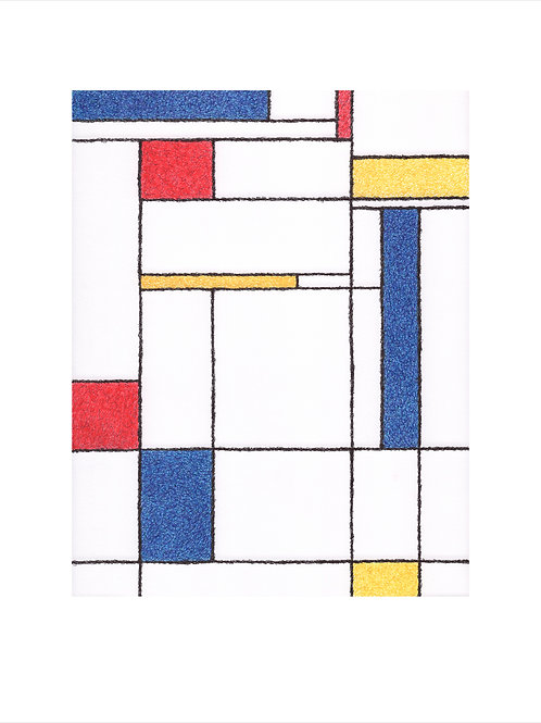 Scribbled Ode to Mondrian - Limited Edition/10