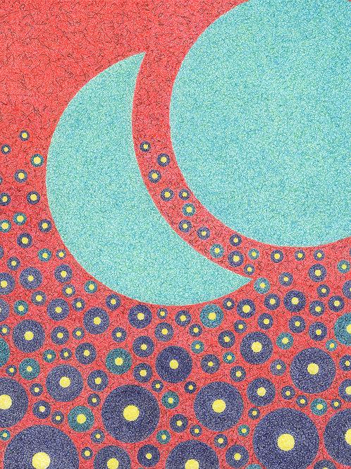 Aqua Moons - 11x14