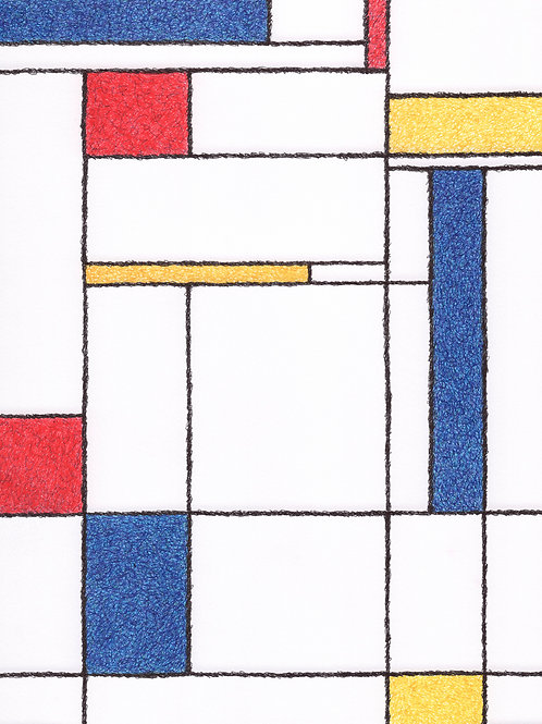 Scribbled Ode to Mondrian - 8x10