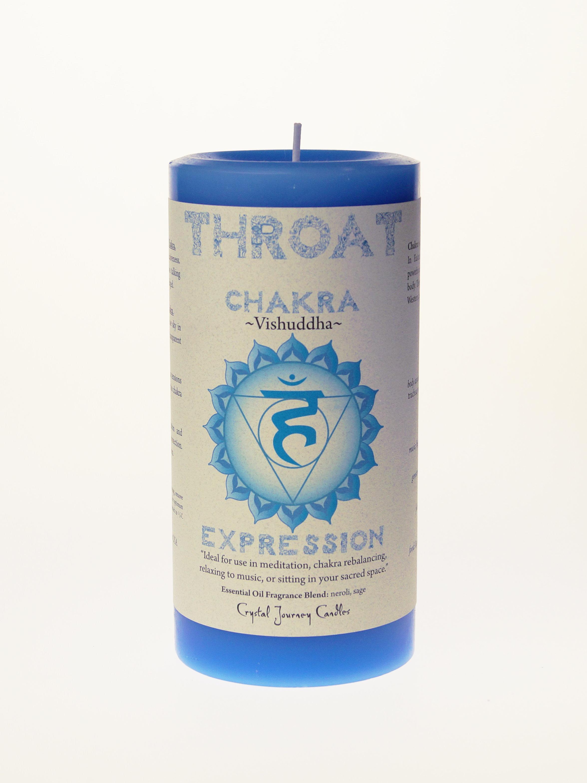 Throat Chakra Pillar Candle (Chakra Visjuddha Expression)