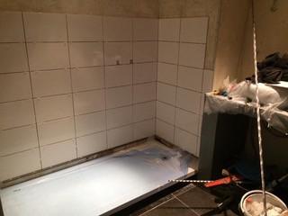 Installation douche En cours