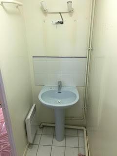 Installation lavabo Avant