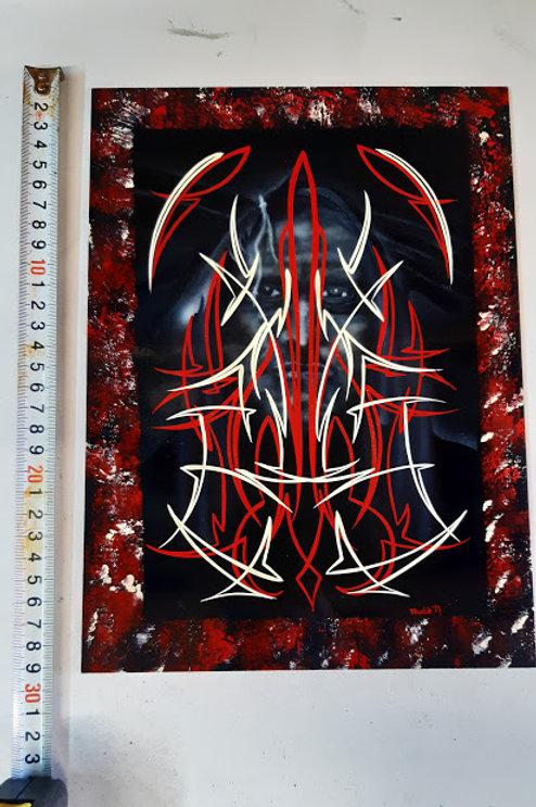 Pinstriping Panel - Native American Face