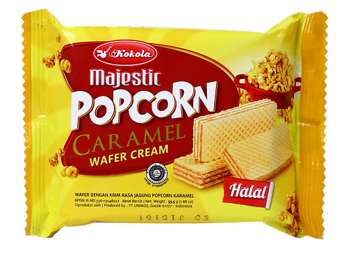 Majestic Wafer Popcorn Caramel 53.5g