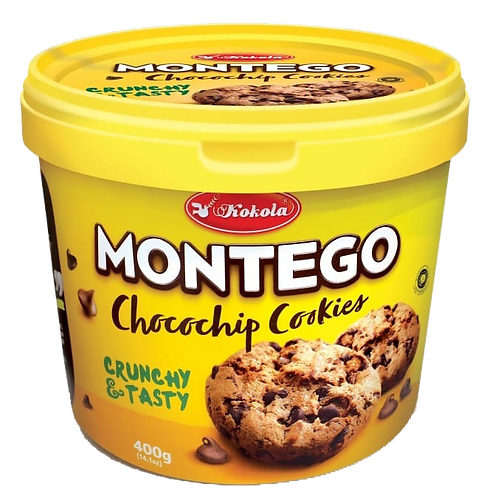 Montego Double Chocolate Chocochip Cookies 400g