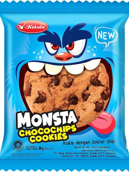 Monsta Chocochips Cookies 9g