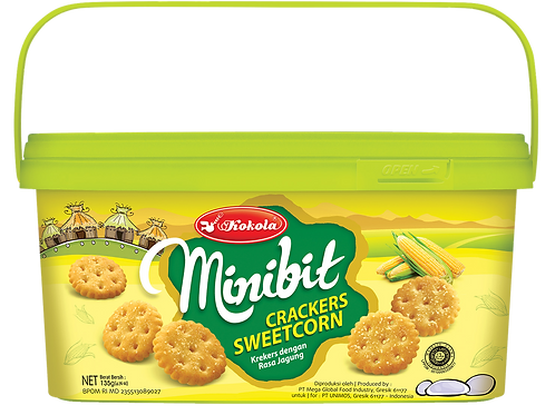 Minibit Crackers Sweet Corn 135g