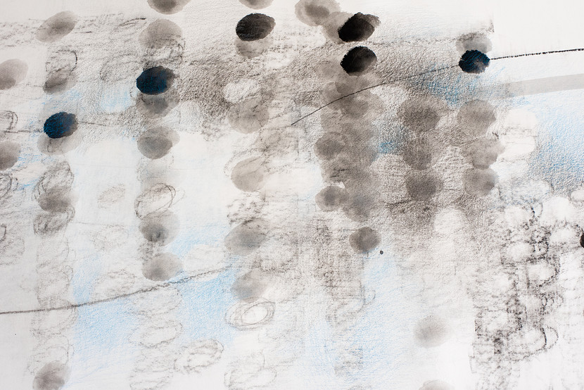 '24 micro infinities' (Detail) 2019, Mixed Media on paper, 70 x 2000cm