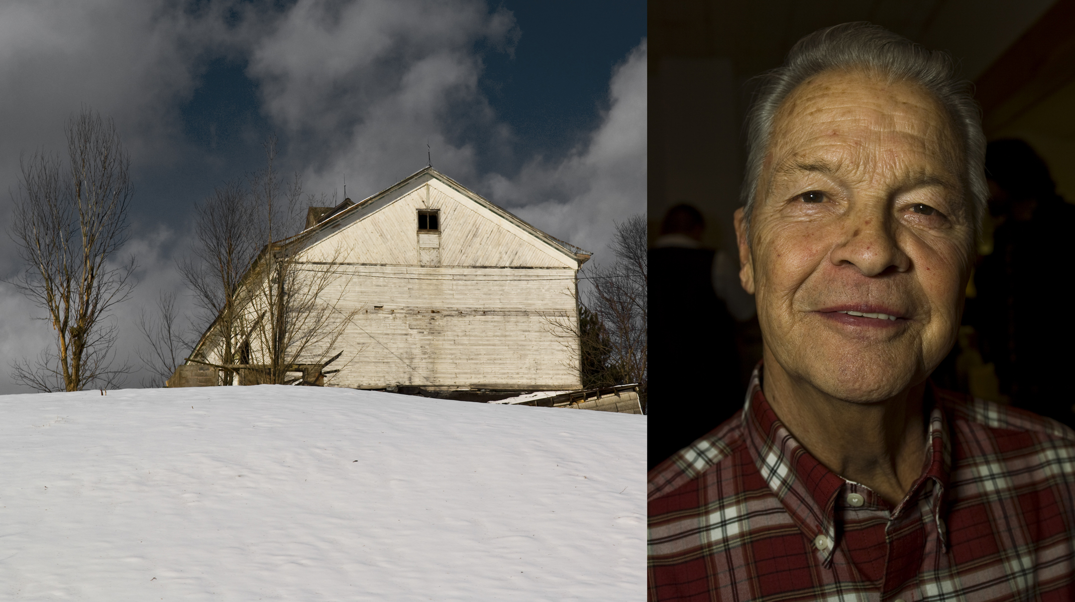 Man With White Barn