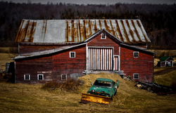 Barn With Striped Doors, Prattsville