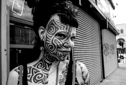 The Girl With Face Tattoo