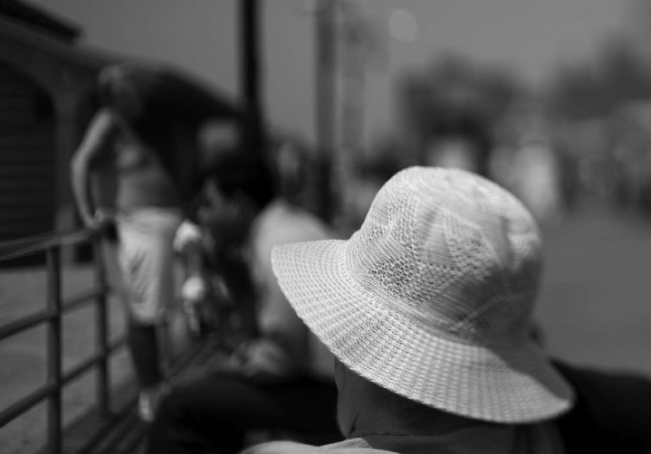 Woman With White Hat Coney Island