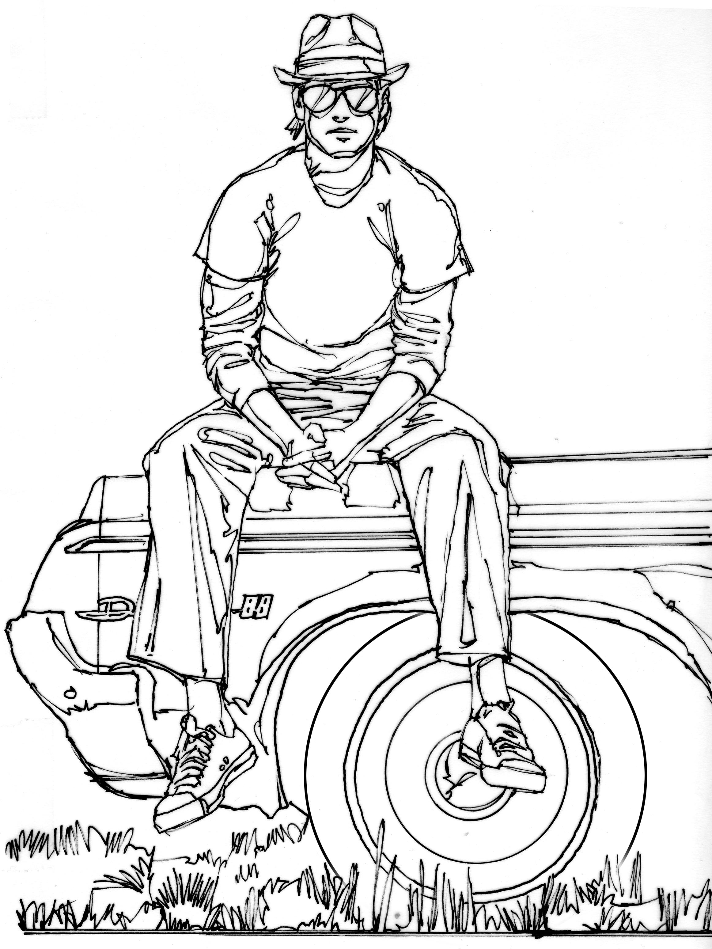 Guy On Car