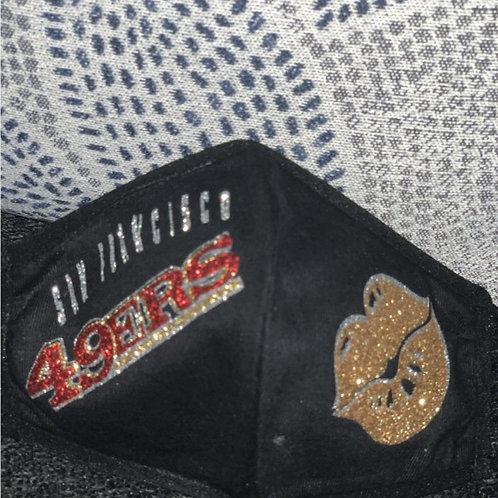 SAN FRANCISCO 49ERS Cotton Face Mask REUSABLE