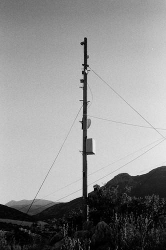Telegraph Pole in shadow