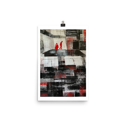 Monoprint in red