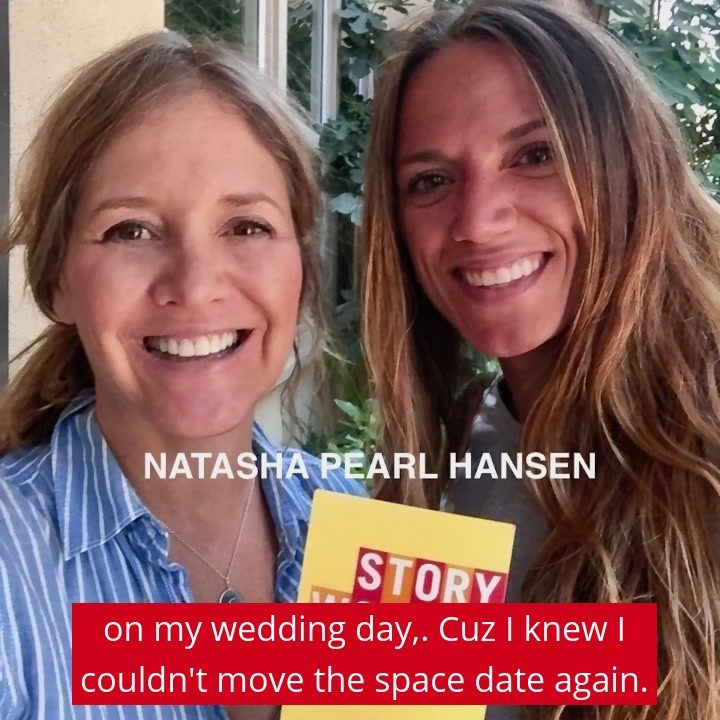 The talented comedian Natasha Pearl Hansen  is on Story Worthy tomorrow sharing a story about turning her wedding day into a comedy special. I hope you'll listen! #storytelling #marriage #podcasting #AnniversaryMonth