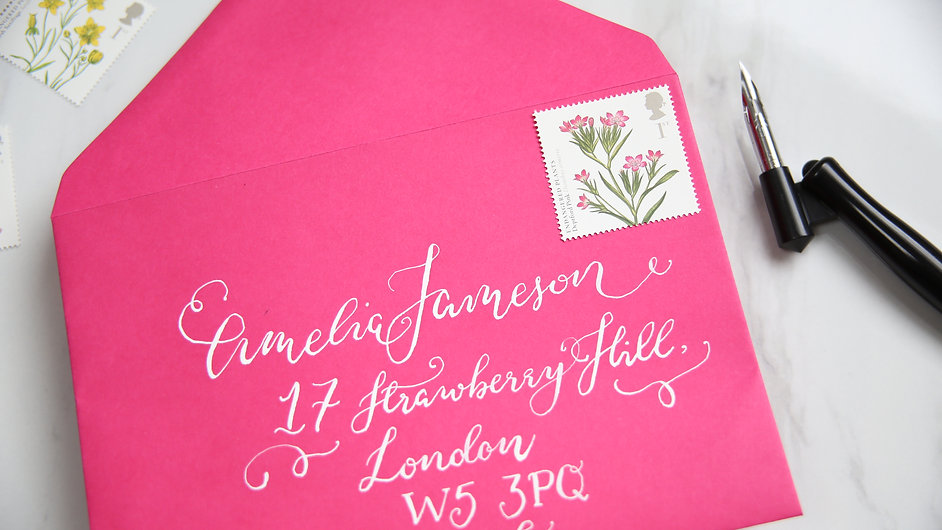 modern calligraphy envelope london