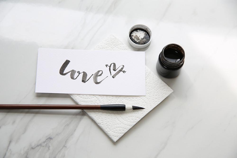 brush lettering london