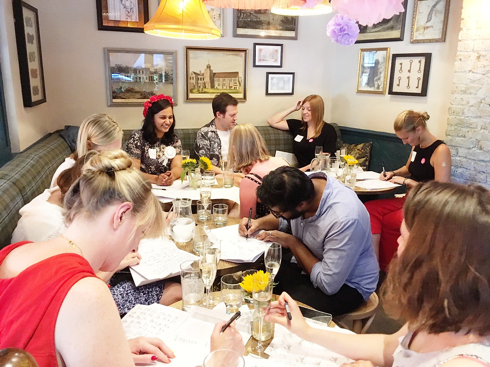 modern calligraphy hen party