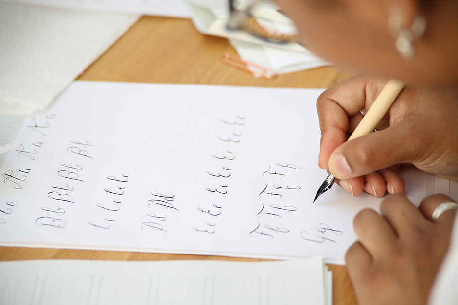 Modern callligraphy class in london