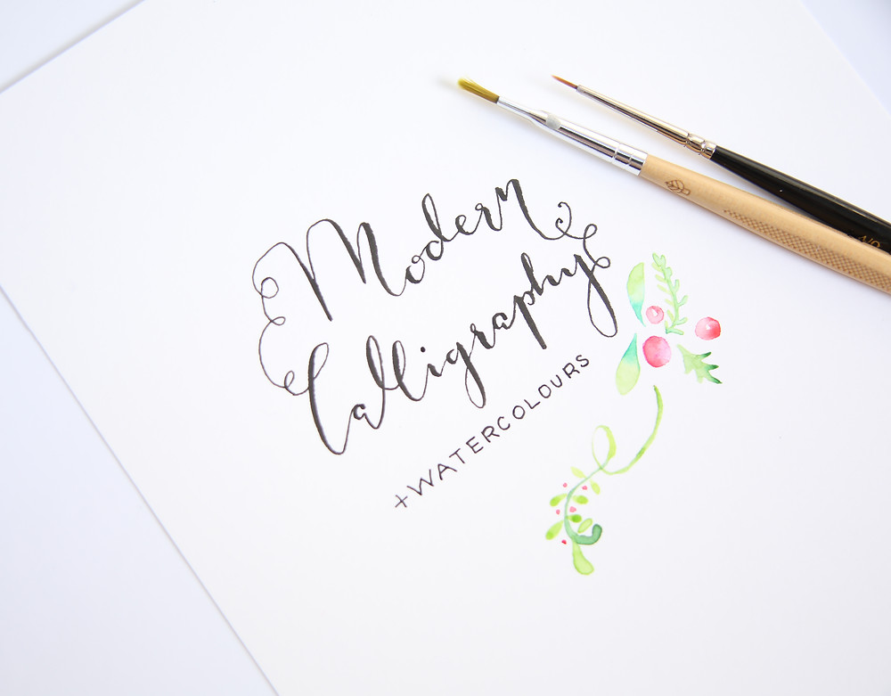 modern calligraphy watercolours workshop London
