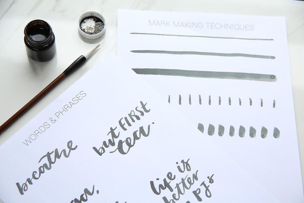 brush lettering class london
