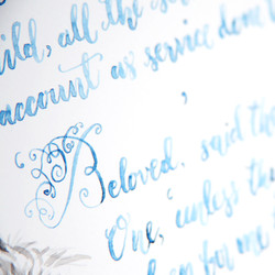 Watercolour Modern Calligraphy